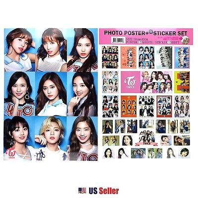Kpop Girl Group Twice High Quality A3 Official Photo 12 Poster Sticker Set #2