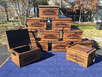 Jack Daniels Tennessee Whiskey Oak Barrel Chest Box With Handles