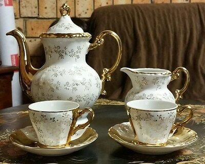 Vintage Coffee Or Tea For 2 Hand Painted, Made In Japan