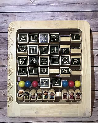 Wooden Alphabet Abacus B Toys AB3 Children's Wood Blocks Letters & Numbers