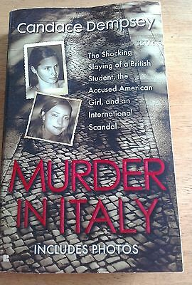 Murder In Italy The Shocking Slaying  BOOK Paperback novel crime books