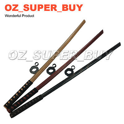 Bokken Wooden Katana Kendo Samurai Practice Sword Decorate Cosplay 101cm/39.8in