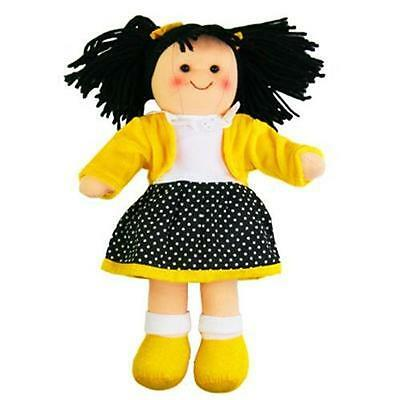 NEW Hopscotch Collectibles Childrens Girl Rag Doll - Lola 25cm