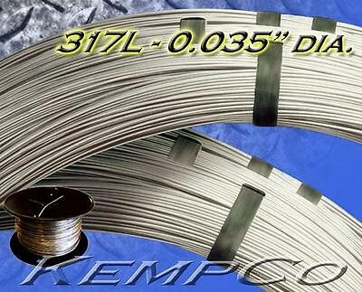 330 ft. SS 317L .035 diameter Stainless Wire DIY HHO, Craft - CUSTOM Annealed