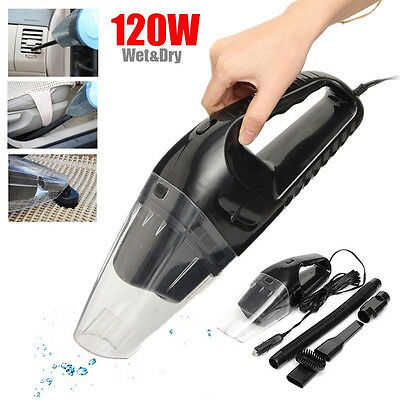 120W 12V Portable Handheld Cyclonic Wet/Dry Duster Car Vacuum Dirt Cleaner