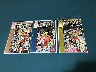 Image/Valiant Deathmate Lot Of 3 Prologue, Blue, Yellow VF