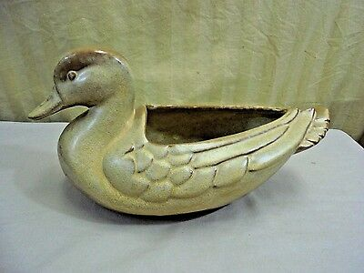 VTG Frankoma Clay Pottery 208 Plainsman Desert Gold Duck Planter Serving Dish