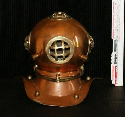 Brass and Copper Mini Divers Diving Helmet Vintage Style Antique Gift Deco