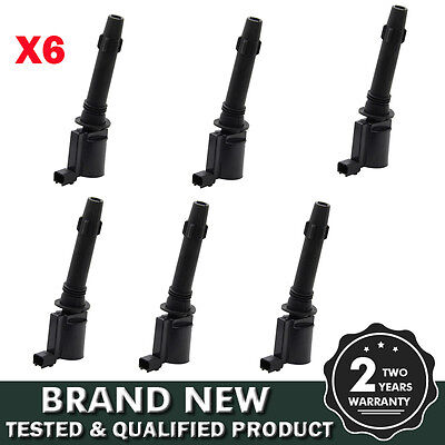 New Bosch 6 Pcs Pack Of Ba/bf For Ford Falcon Sx/sy Territory Ignition Coils