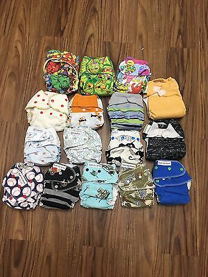 Cloth Diaper Lot Huge 357 Inserts Fitteds Prefolds Covers Hybrids Bags Spray Pal
