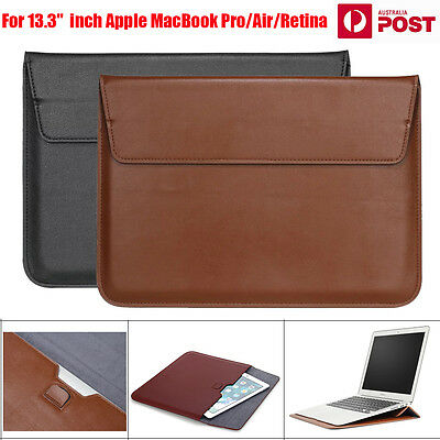 """Laptop Leather Sleeve Case Carry Bag Notebook For 13.3"""" Macbook Air/Pro/Retina"""