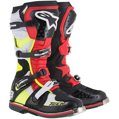 Alpinestars NEW Mx 2018 Tech 8 RS Black Red Fluro Yellow Motocross Boots
