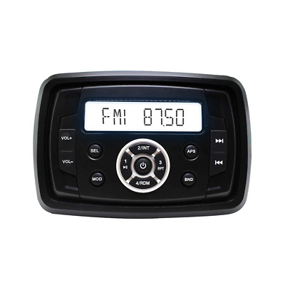 Bluetooth Waterproof Motorcycle Audio Boat Radio Marine Stereo Car MP3 Player