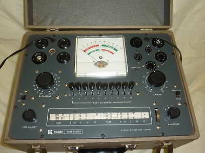 Knight 600A Tube Tester with Manual - Clean Working Unit