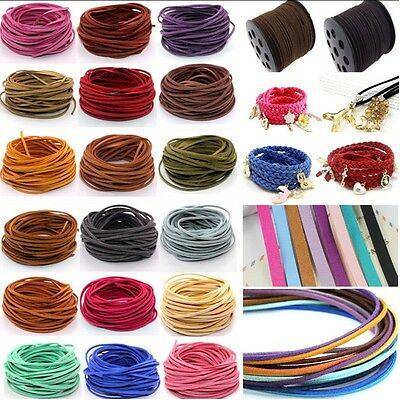 10yd Wholesale 3mm Suede Leather String Jewelry Making Bracelet DIY Thread Cord