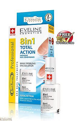 Top Price Intensive Nail Strengthener Conditioner EVELINE 8 in 1 TOTAL ACTION