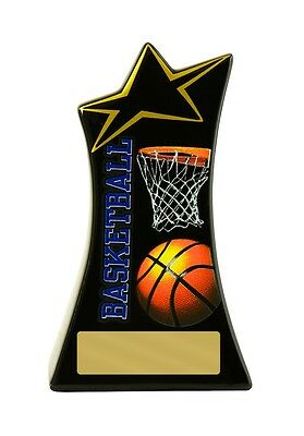 Basketball Trophy Full Colour Ceramic 150mm Engraved FREE