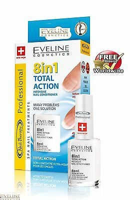 Intensive Nail Strengthener Conditioner EVELINE 8 in 1 TOTAL ACTION - Top Price