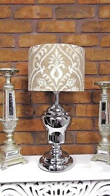 Dalusio Damask Drapery Fabric Drum Lampshade Shabby Chic Vintage Table Lamp Yard