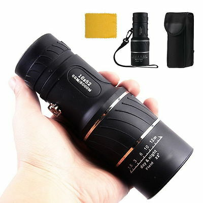 Night Vision HD Optical Monocular Hunting Camping Hiking Telescope 16x52