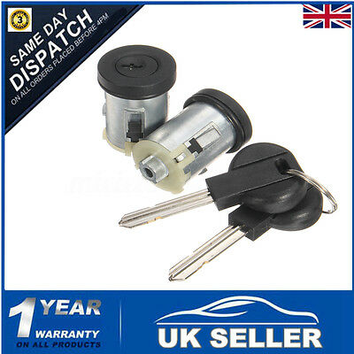 Pair Barrel Door Lock Set Barrels W/ 2 Keys For Peugeot Expert Citroen Dispatch