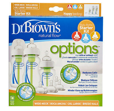 Dr Brown's Anti-Colic Wide Neck Baby Bottle Starter Kit Dr Browns