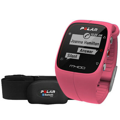 Polar M400 GPS Watch (Pink) + H7 Heart Rate Sensor with AUST POLAR WARR