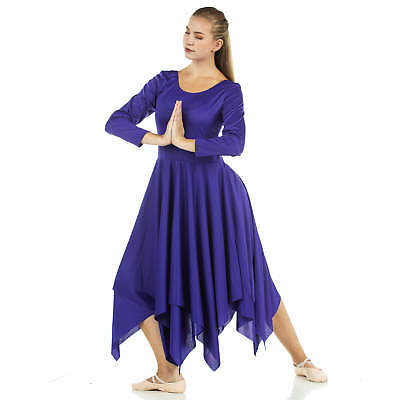Danzcue Womens Celebration of Spirit long sleeve dance dress
