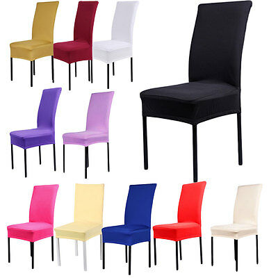 Removable Spandex Chair Covers Kitchen Dining Seat Cover Home Party Hotel Decor