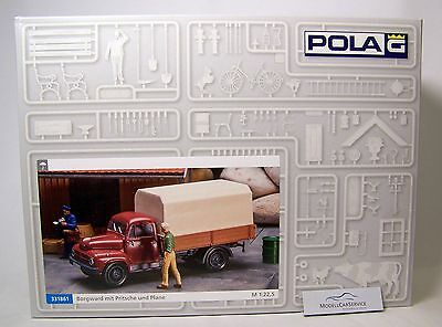 Pola 1:22,5 (G): 331861 BORGWARD B 1500 Flatbed Truck with Tarpaulin - Kit