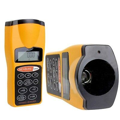 DigitalLCD Ultrasonic Tape Laser Point Distance Measure Meter Range Measurer New