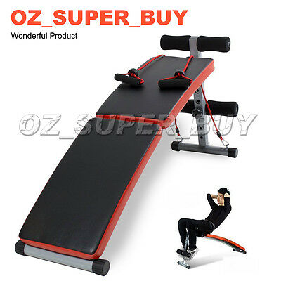 Adjustable Sit Up Abdominal Bench Press Weight Gym Ab Exercise AU STOCK