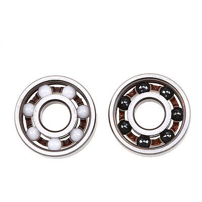 1x ZrO2 Ceramic 608 Open Deep Groove Ball Bearing 8x22x7mm Fidget Hand Spinner