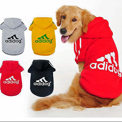 Adidog Pet Dog Cat Puppy Warm Hoodies Coat Jacket Clothing Winter Casual Clothes