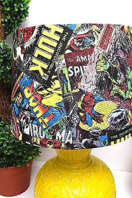 New Marvel Comics Superhero Costume Avenges Hulk Thor Spiderman Table Lamp Light