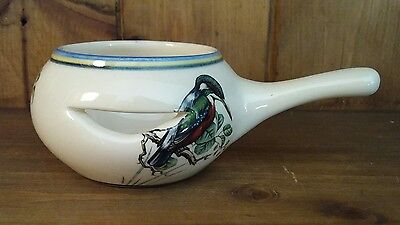 Brixham Pottery Devon Egg Separator Kingfisher,Blue Tit & Goldfinch Images