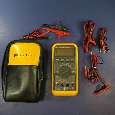 Fluke 787 Processmeter, Excellent condition, Screen Protector Case Leads/Probes
