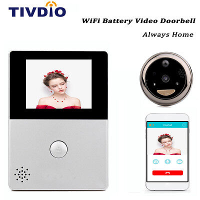 "TIVDIO WiFi 2.8"" OLED HD Screen Monitor Door Peephole Viewer Camera Doorbell NEW"