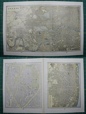 London Brussels Liverpool Vintage Original 1895 Crams World Atlas Map