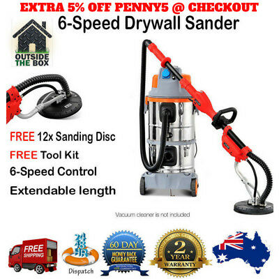 Superior 6-Speed Drywall Sander Dust-free Extendable Length 710W 2100rpm Power