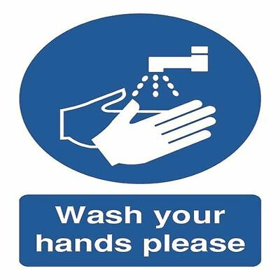Safety Sign Wash Your Hands Please A5 PVC MD05851R [SR11222]