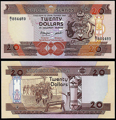 Solomon Islands 20 Dollars (P16) N. D. (1986) Unc