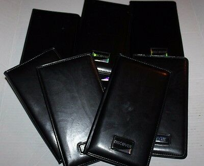 Discover Restaurant Waiter Presenters Check Books Black Leather Lot of 12