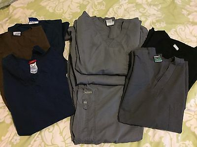 Lot Of Scrub Tops One Pants 8 Pieces Sketchers Ws Gear Dickies Landau Size M