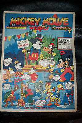 1936 DISNEY SERIES ORIGINAL MICKEY MOUSE PLATINUM COMIC Vol 2 MAY15th 1937 No67