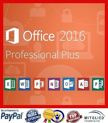 microsoft office 2016 professional plus vollversion 3 pc 64 32 bit eur 34 99 picclick de. Black Bedroom Furniture Sets. Home Design Ideas