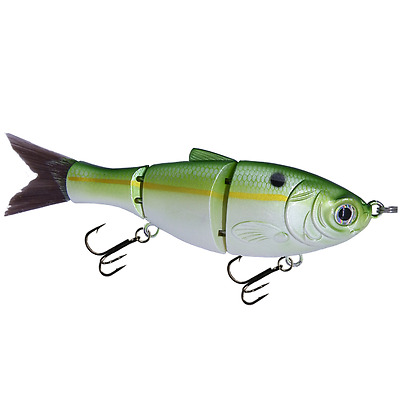"KDS Custom Slow Sinking Jointed 5"" Multi Section Swimbait - Green Threadfin Shad"