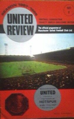 Man Utd V Tottenham 12/8/1967 Fa Charity Shield