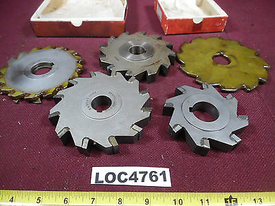 Lot Of 5 Assortment Of Slitting Saws Side Milling Cutters Loc4761