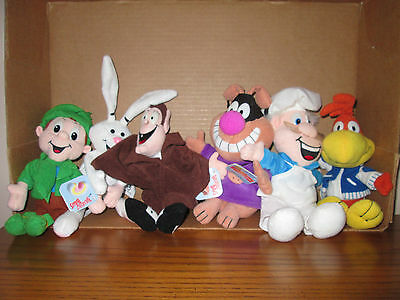 Plush Cereal Breakfast Beanies (6) Trix/Lucky/Chocula/Sonny/Wendell/Chip/Sunny